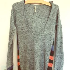 EUC Free People Hooded Sweater